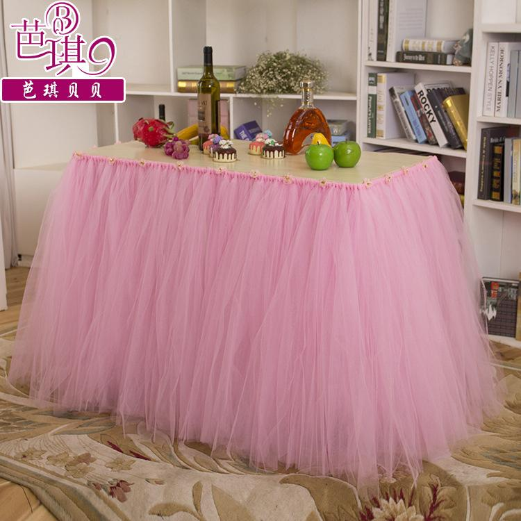 Pink Tulle Tutu Table Skirting Factory Sale Wedding Decorations 2016 Table  Cloth For Birthday Party Weddings 90cm Length Tutu Table Decoration Table  Skirt ...