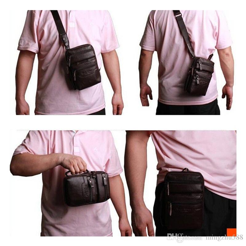 Hot Sale Messenger Bags Mini Men Genuine Leather Cowhide Shoulder ...
