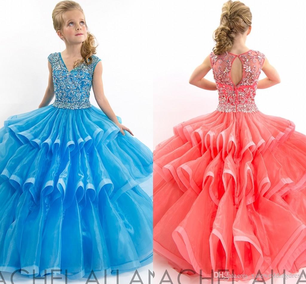Teen Girls Long Pageant Dresses