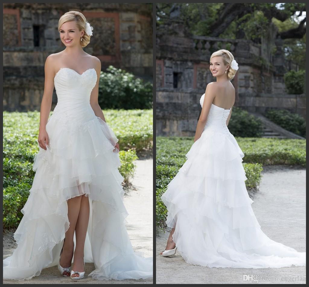 Discount 2016 sincerity bridal high low wedding dresses for High low wedding dresses cheap