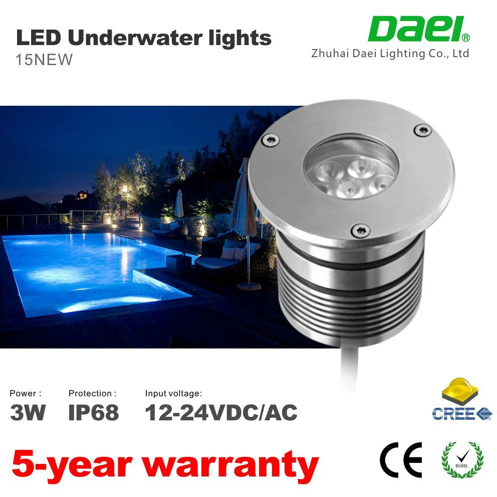 2017 Courtyard Floor Path Led Lights Led Pool Light Ip68 Dc12v 24v 3w Led Underwater Light