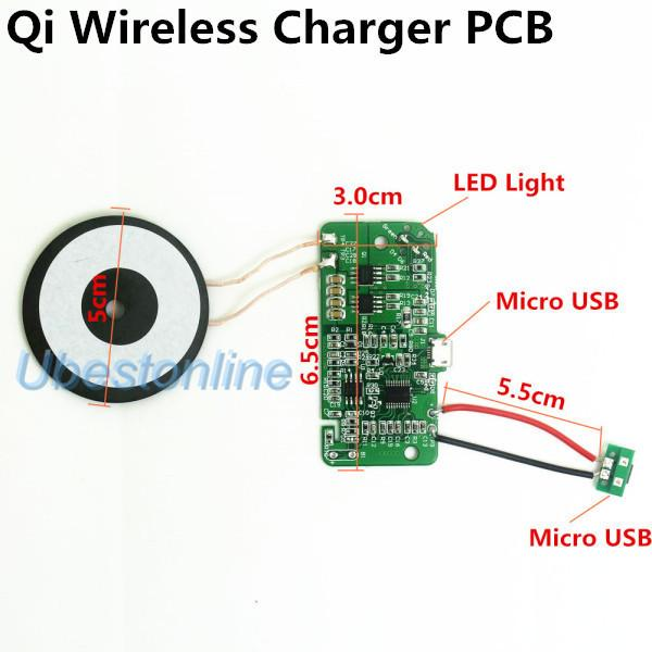 Wholesale Qi Wireless Charger Pcba Circuit Board With Qi Standard Coil Diy Wireless Charging