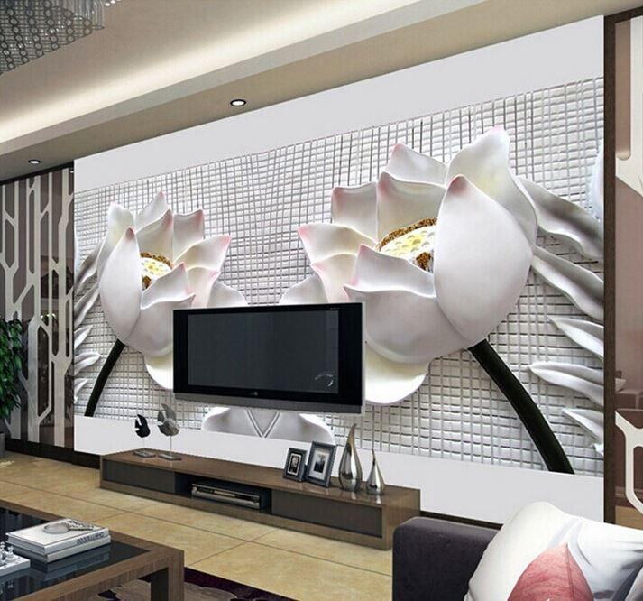 Custom any size 3d wall mural wallpaper 2015 new modern - Como hacer un mural ...