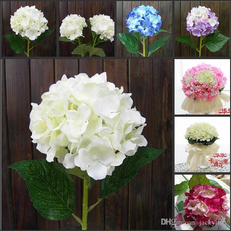 Elegant hydrangea artificial silk flower wedding
