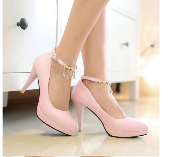 Best Sparkling Diamond Wedding Women&-39-S Dress Shoes 2014 Pink Bride ...