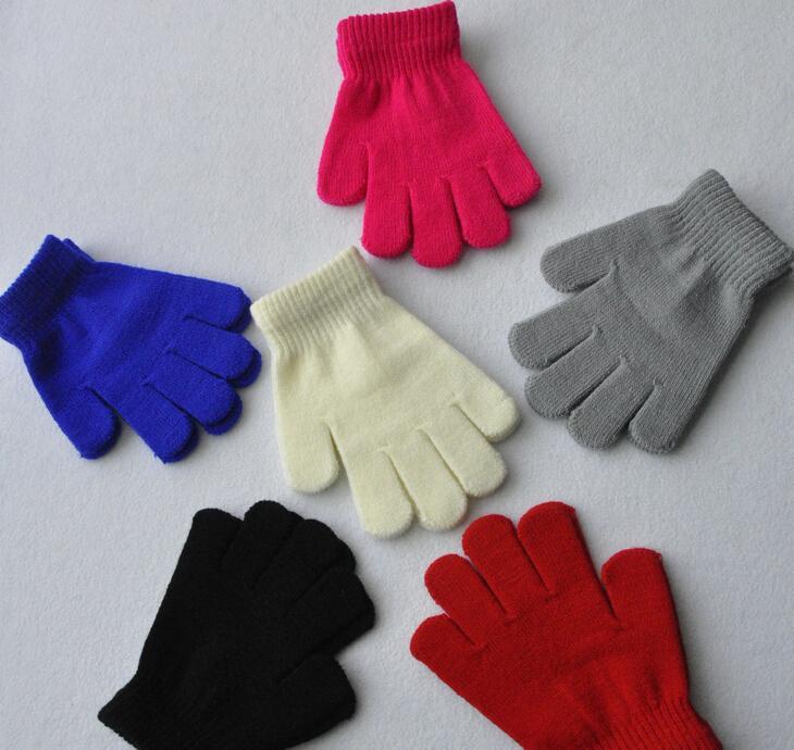 hot winter gloves for kids winter gloves mittens children Mitten Girl Boy Kid Stretchy Knitted glove multicolors cotton knitted gloves D1943