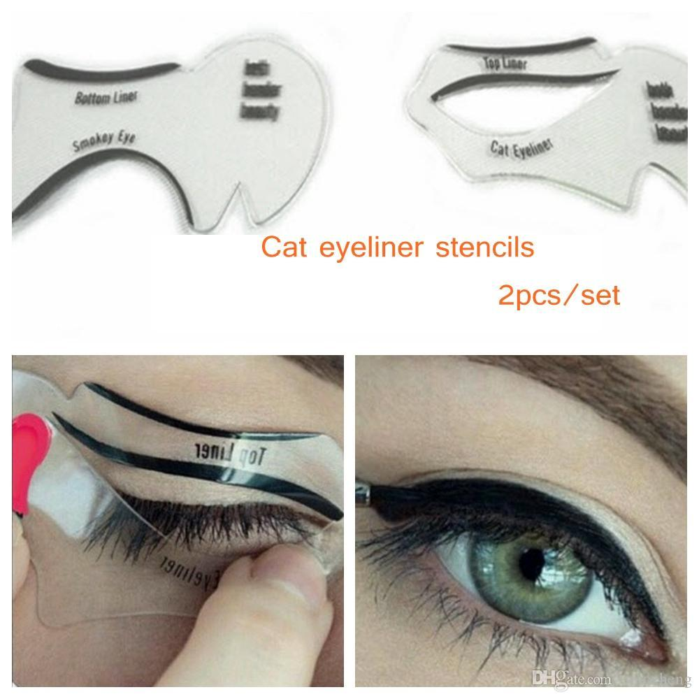 cat eye stencils makeup stencil eyeline models template eyeliner card auxiliary tools smoky. Black Bedroom Furniture Sets. Home Design Ideas
