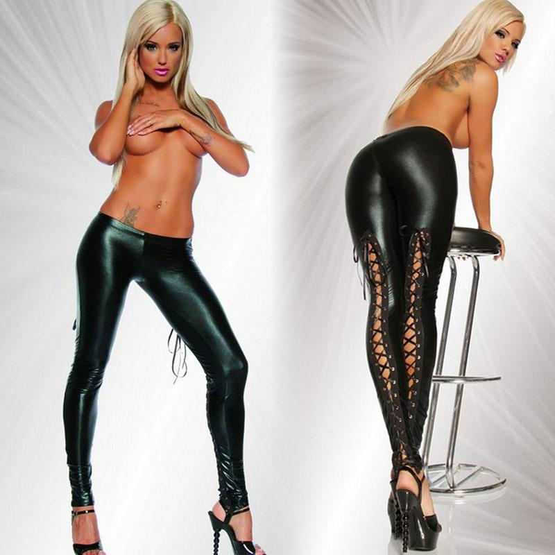 Perfect BLACK FAUX LEATHER FAUX FUR SUPER SEXY STRETCH FIT PANTS  Sexy