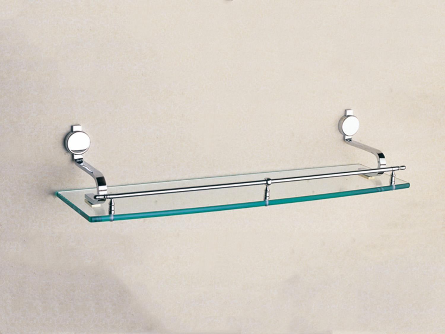 Brass Bathroom Accessories Single Glass Shelf 197 Inch Whole Brass Bathroom Shelves With