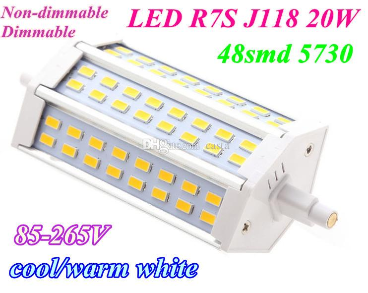 best 20x r7s led 20w smd5730 118mm j118 led light bulb light lamp ac85 265v dimmsble non. Black Bedroom Furniture Sets. Home Design Ideas