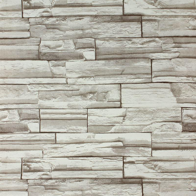 10meters3d block stone slate brick wall paper claasic for White 3d wallpaper for walls
