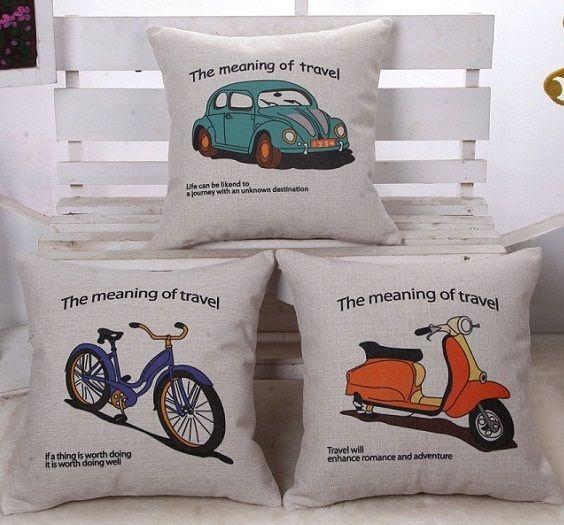 6 Styles Car Bike Travel Sofa Custom Cushion Covers