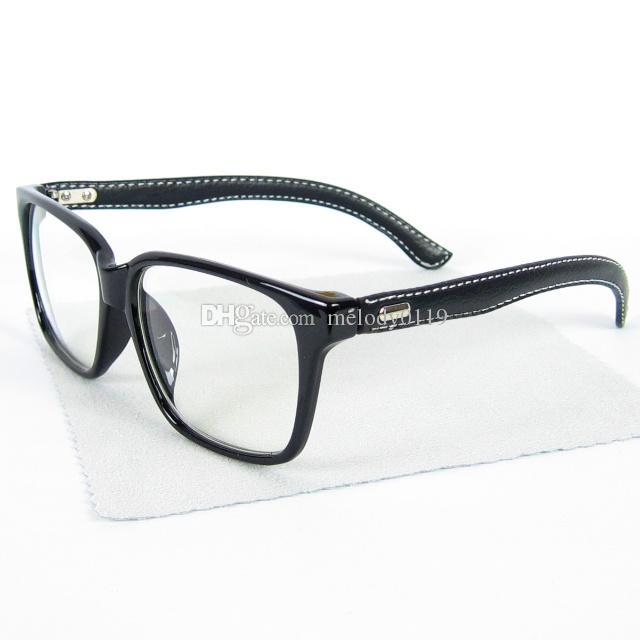2015 Fashion PU Leather Legs Optical Glasses Square ...