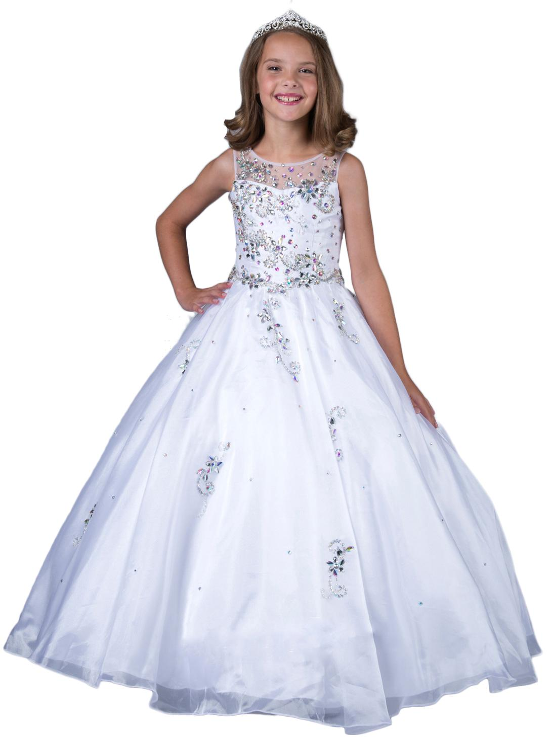 2016 new little girls pageant dresses custom made beads white holy 2016 new little girls pageant dresses custom made beads white holy communion ball gowns kids party princess dress first communion dresses junior wedding ombrellifo Image collections