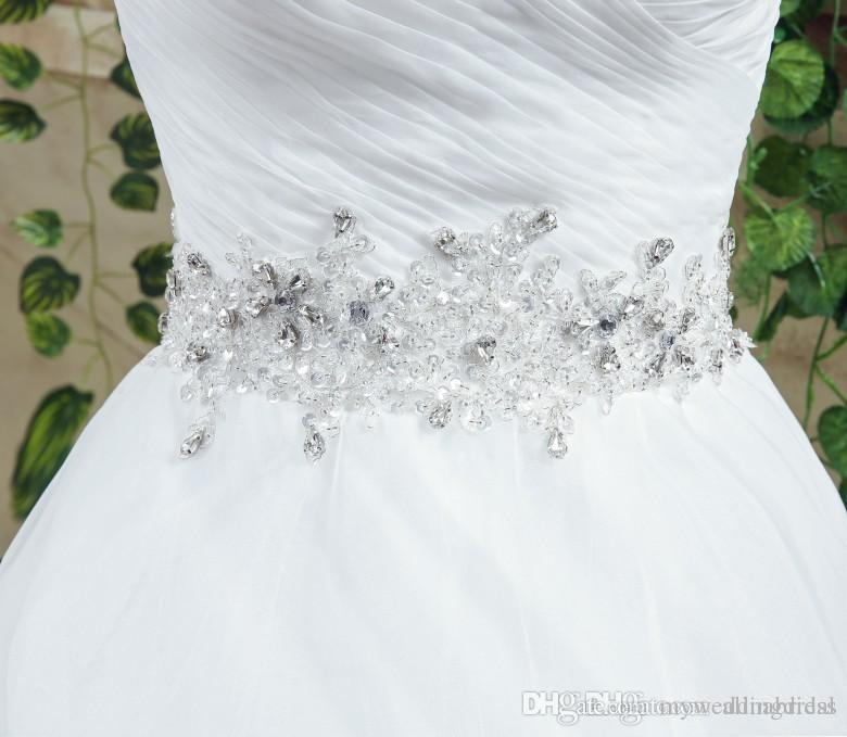 2016 Luxury 2016 Cheap Bridal Sashes Belts Crystals Beaded Rhinestones Bridal Belt Evening Prom