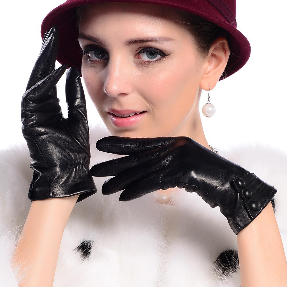 High quality womens leather gloves - 2017 2015 New Fashion Genuine Leather Gloves For Women High Quality Brand Designer Winter Gloves From Minicon 30 56 Dhgate Com