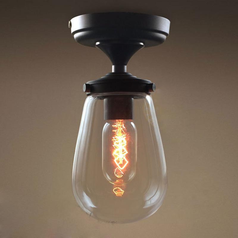 Venta al por mayor vidrio simple pasillo del hierro lámparas del ...