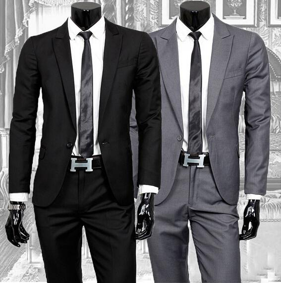 Business Casual Suits Men's Two-piece Terno Masculino Men Suit