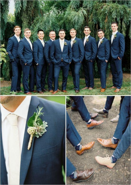 Navy Blue Groomsmen Suits Custom Made High Quality Factory Sale ...