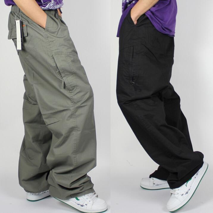 2017 Plus Size Hip Hop Dance Loose Pants Casual Fashion Big Fat ...