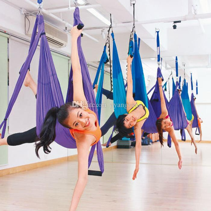 Newest Fashion Yoga Hanging Hammock Swing Trapeze Anti-Gravity Inversion  Aerial Pilates YOGA SWING 250*150cm Yoga Belt Yoga Swing Sling Hammock Yoga  ... - Newest Fashion Yoga Hanging Hammock Swing Trapeze Anti-Gravity