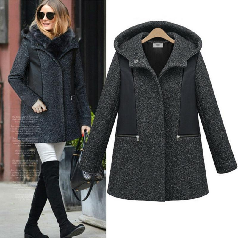 Best Fashion Thick Wool Coat Women Zipper Cap Winter Wadded Jacket ...