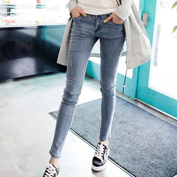 2016 New Arrival Brand Women Jeans Washed Scratched Pockets Cotton ...