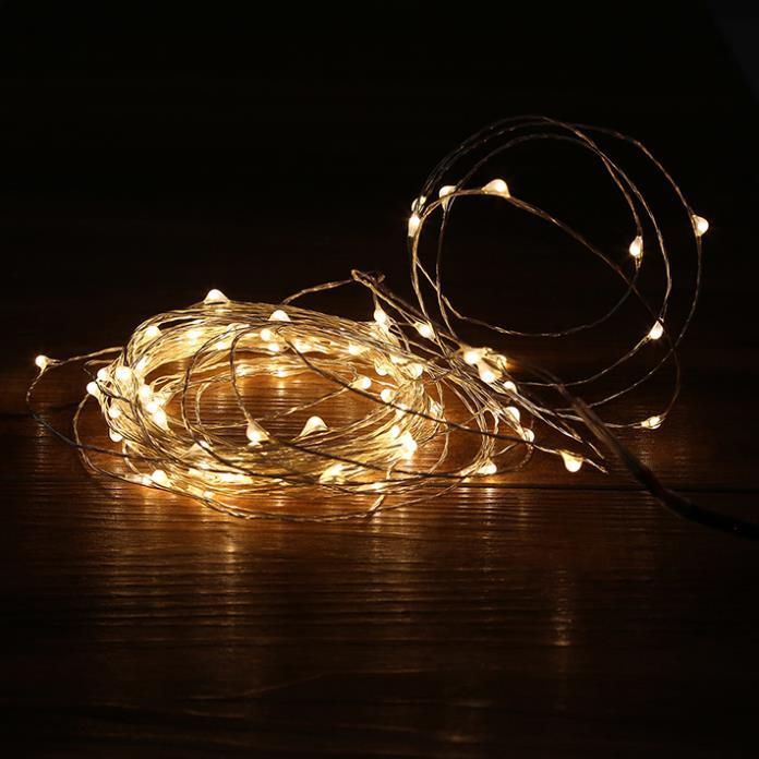 Cheap 100 Led New Year Wedding Christmas Decoration Fairy Lights Warm White Romantic Led Starry ...
