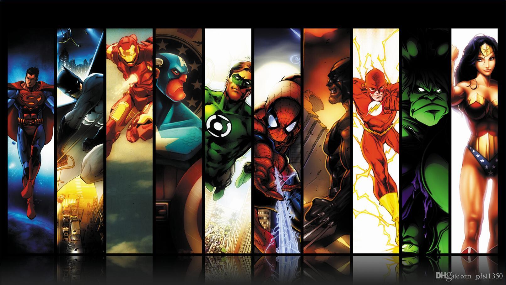 Marvel Bedroom Wallpaper 24x42inch Comics Marvel Avengers Superhero Poster Hd Home Wall