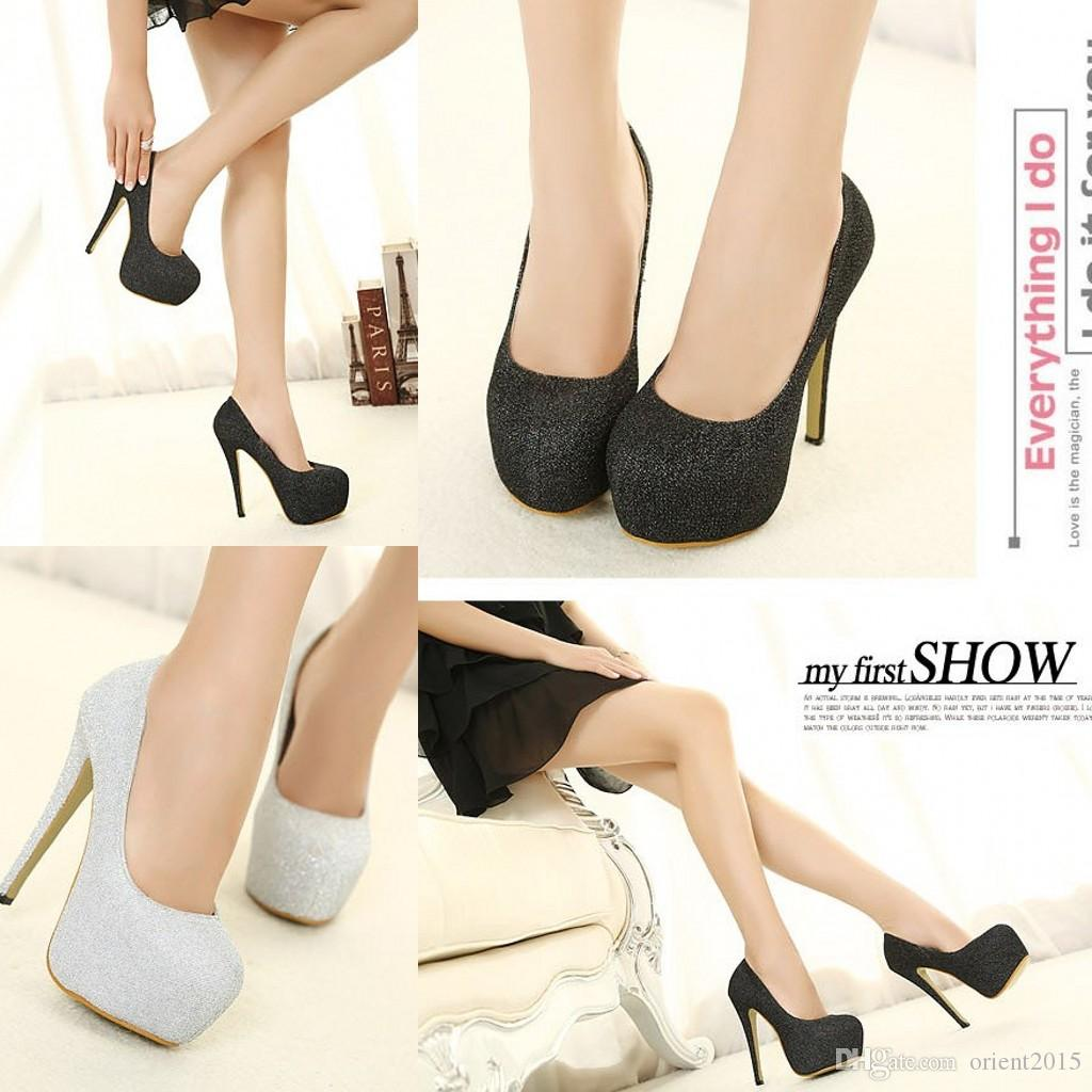 Cheap Silver Low Heels