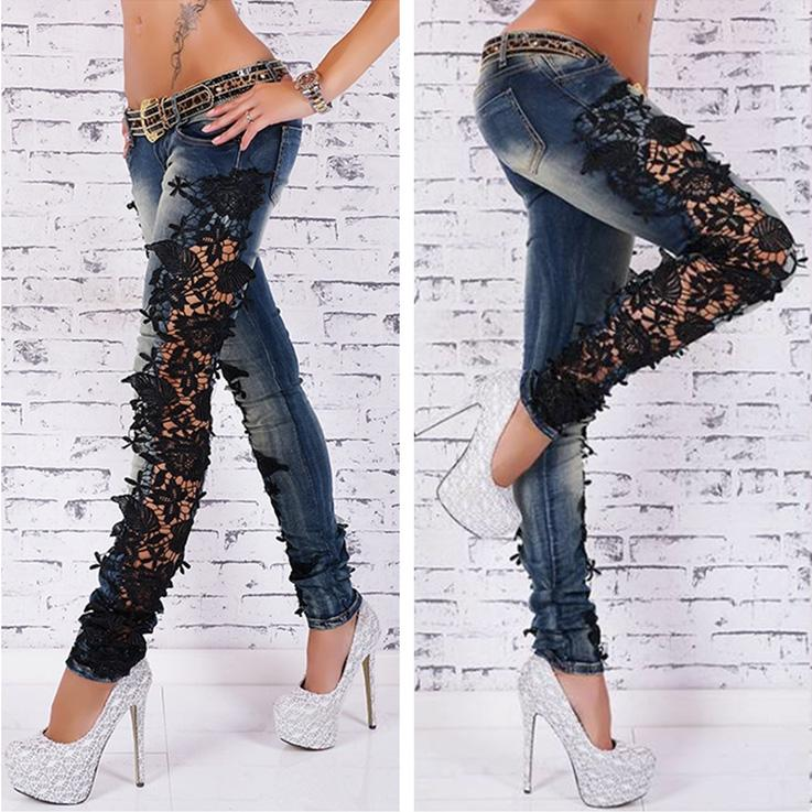 2017 Womens Plus Size Jeans Designer Flare Wash Acid Distressed ...