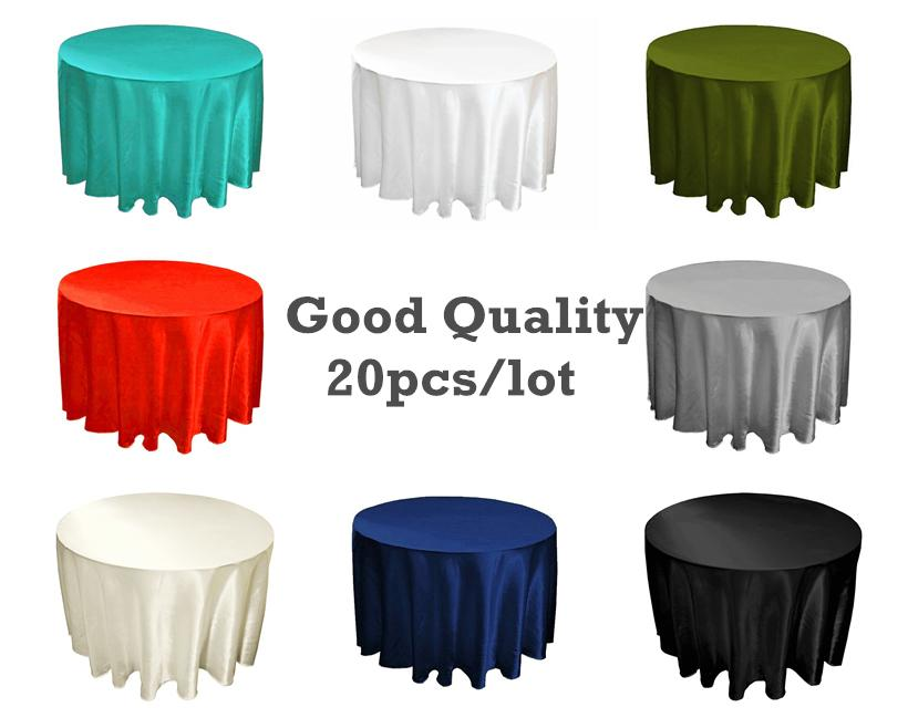 Factory Price !!!Round 280*280cm Table Cloth, Satin Table Overlay,table  Cover For Wedding Custom Made Washing Machine Table Cloth For Wedding Dec  110inch ...