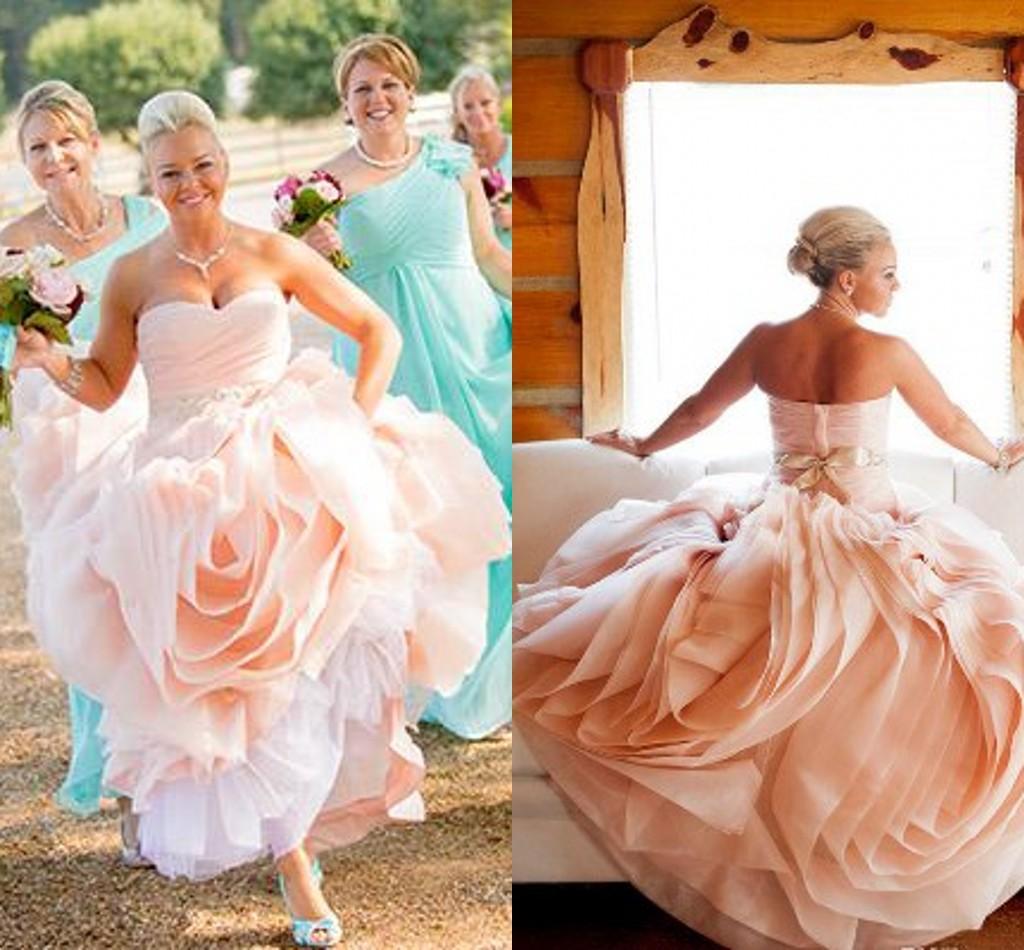 plus size pink wedding dress blush pink wedding dresses Plus Size Pink Wedding Dresses Plus Size Wedding Dresses In Blush Blush Plus Size Wedding