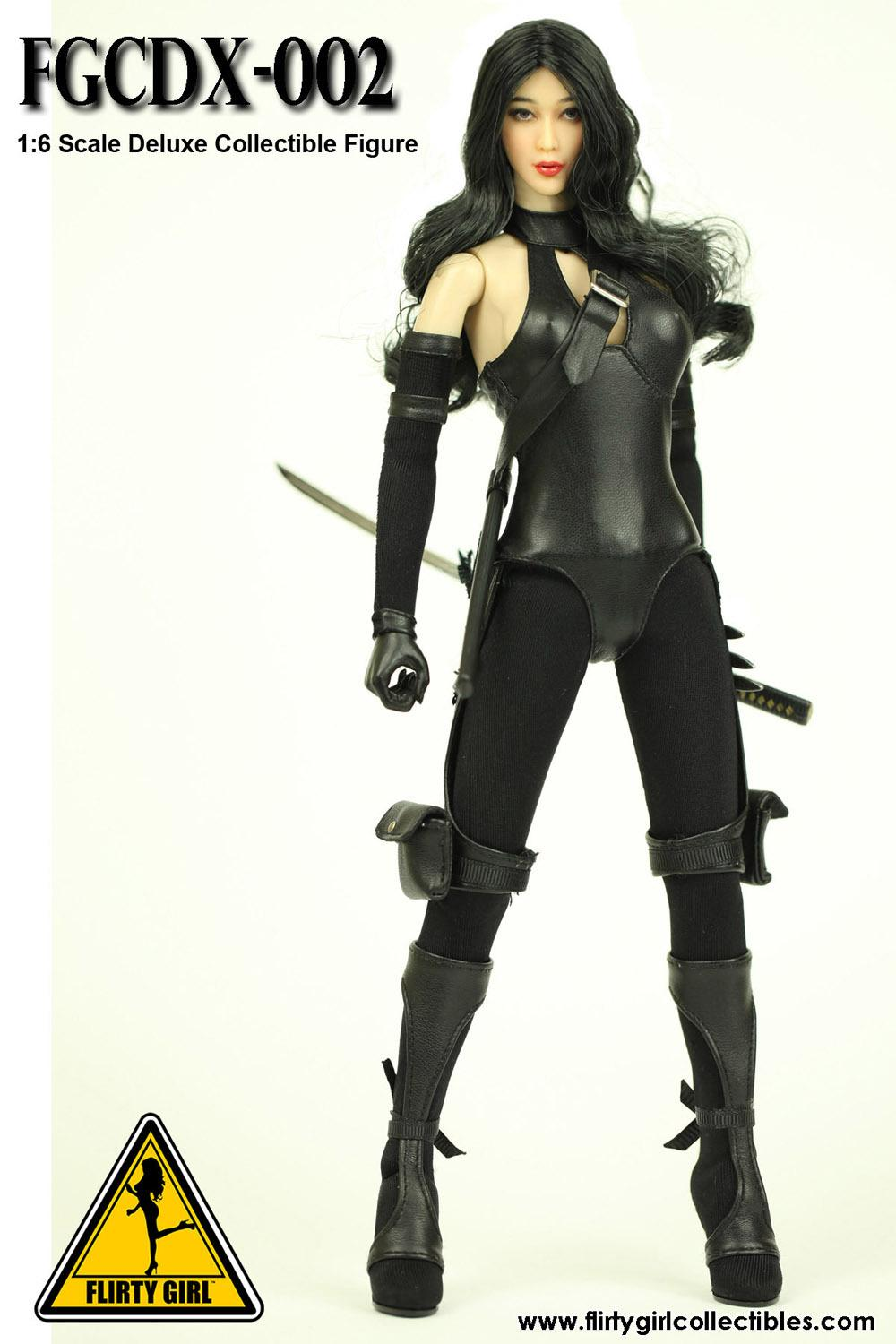 Flirty Girl 12inch Black Clothes Kunoichi 1 6 Scale Deluxe