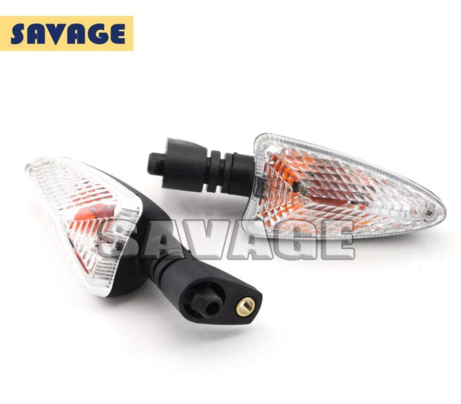 For BMW K1200R 07-08, R1200GS 04-15, R1200R 09-14 AA Motorcycle Front / Rear Turn Signal Indicator Light Clear