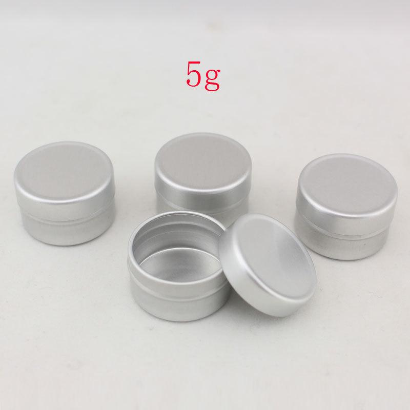 5g Aluminum Empty Cosmetic Container With Lids 5ml Small Round Lip ...