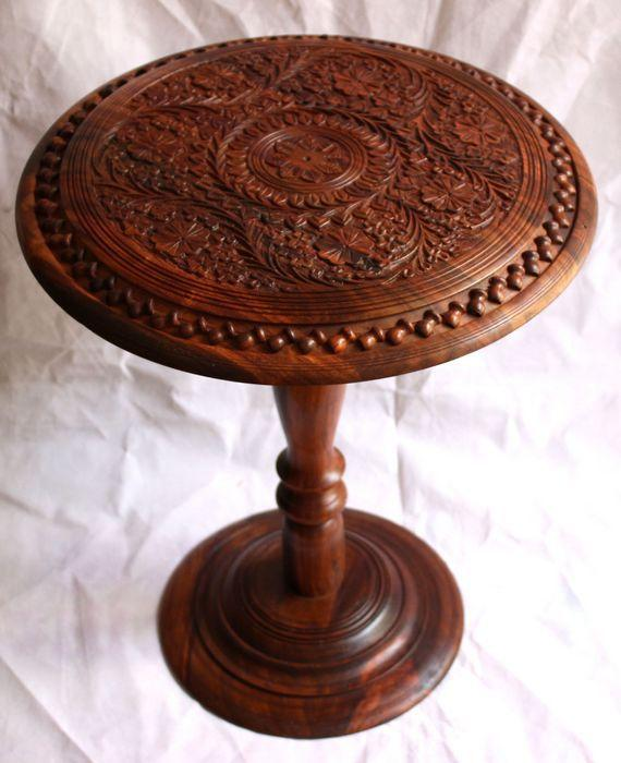 Pakistan Imported Wood Carving Hand Carved Antique Wood Table Coffee Table  Coffee Table Small Table Online With $328.71/Piece On Zhoudan5242u0027s Store  ...