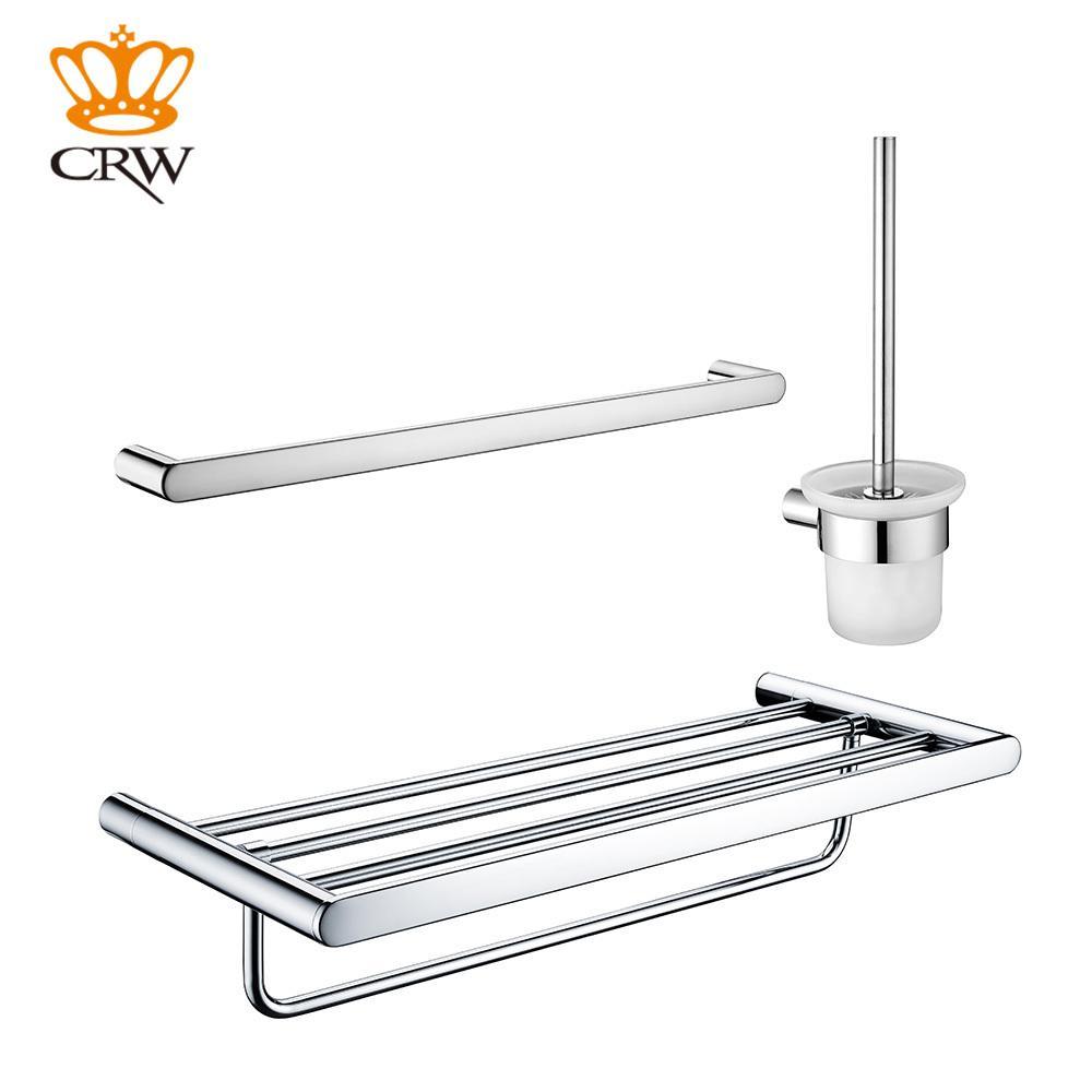 Good 2017 Crw Bathroom Accessories Set Towel Bar Toilet Brush