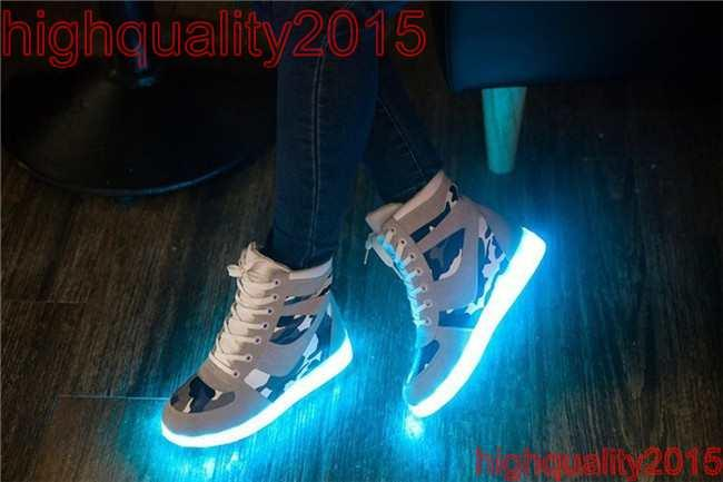 Aliexpress.com : Buy Fashion 8 Colors Men LED Shoes 2015 Autumn ...