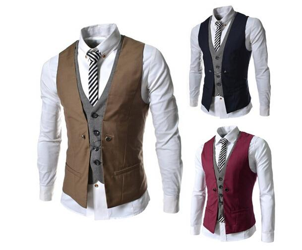 2017 men vest suit mens sleeveless jacket wholesale hot