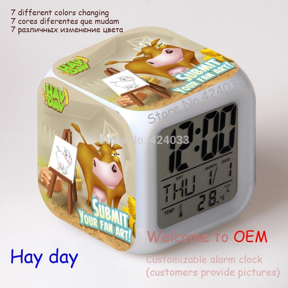 Color change online - Online Cheap Whosesale Hay Day Moodicare Clock Color Change Digital Alarm Clock Glowing Led Flashing Light And Sound Alarm By Zhuwu1 Dhgate Com