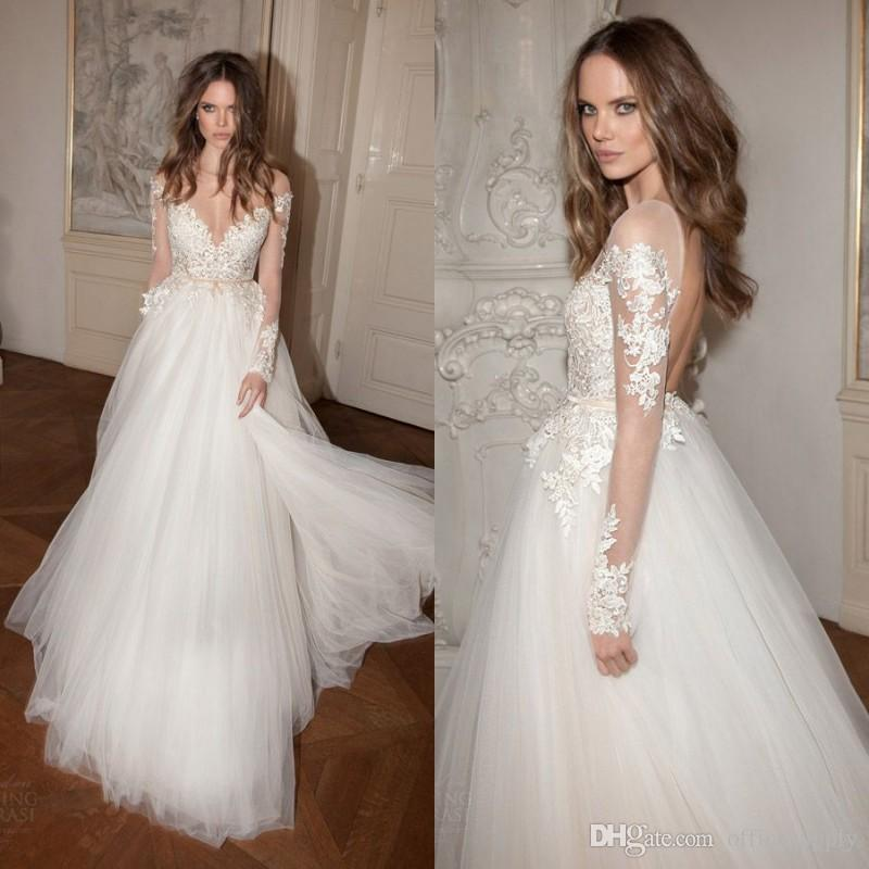 Berta bridal fall 2016 wedding dresses illusion long for Adding sleeves to a wedding dress