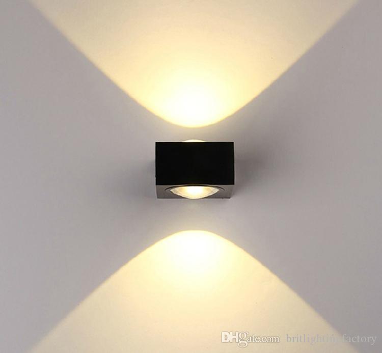 6w led lámpara de pared material aluminio lámpara cuerpo 110v ...