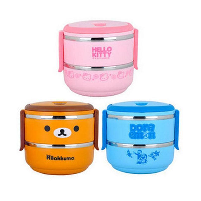 2 Level 1 4l Hello Kitty Lunch Box Keep Warm Food Doraemon