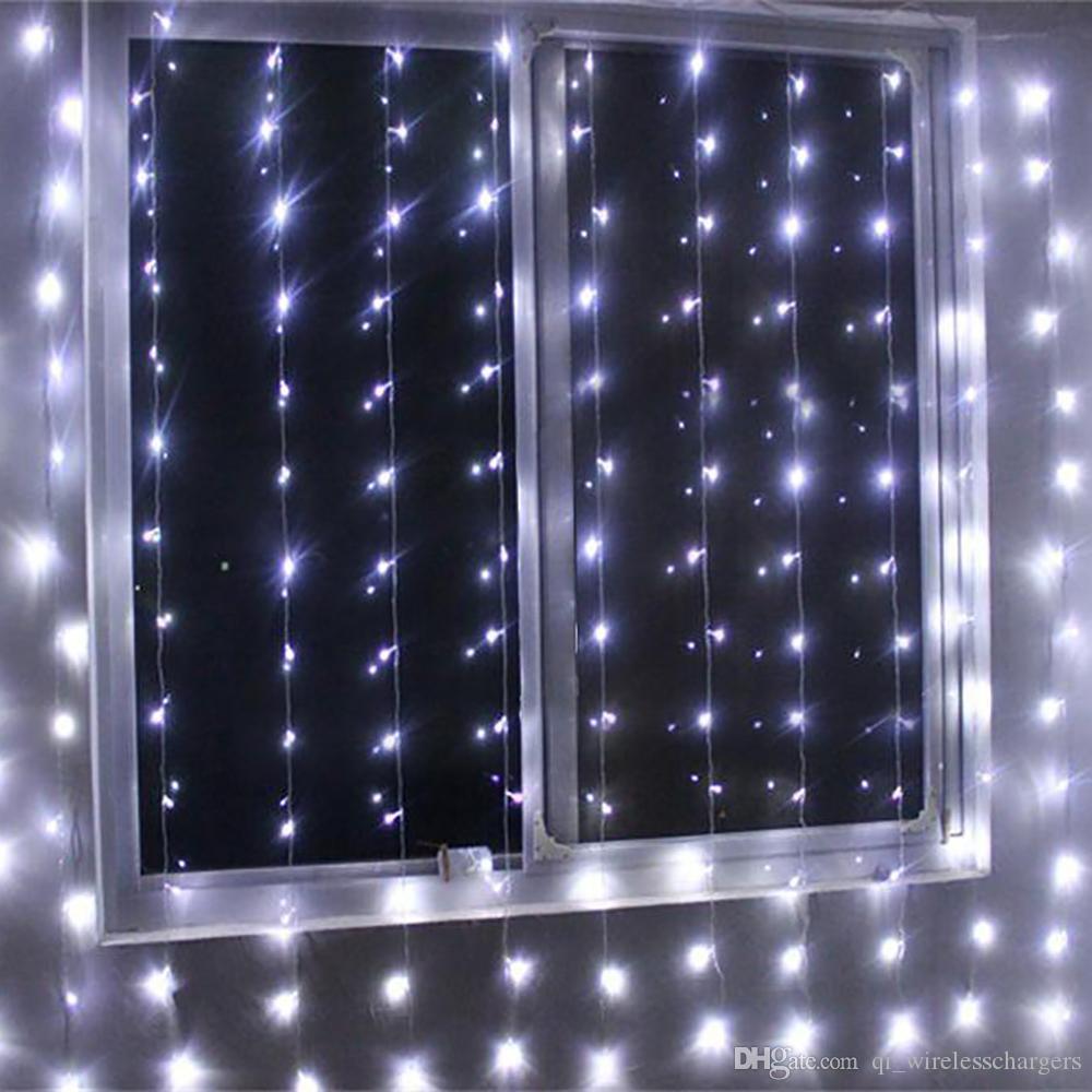 Curtain christmas lights - 300 Led Window Curtain Icicle Lights String Fairy Light Wedding Party Home Garden Decorations 3m 3 Curtain Christmas Lights String Light Curtain Lights