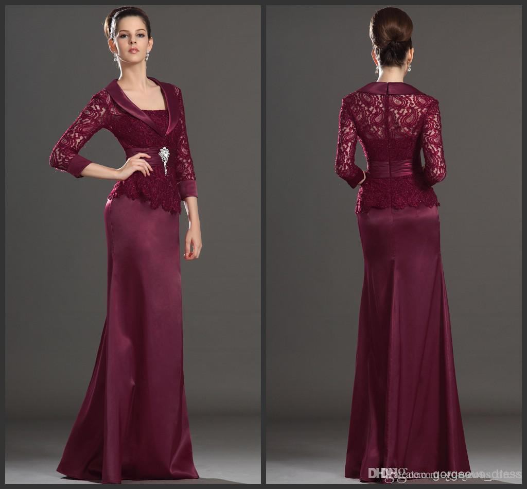 New Arrival Dark Red Mother Dresses Wedding Party Dress