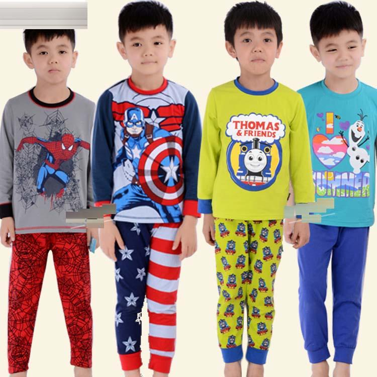 New Kids Cartoon Superhero Pajamas Avengers Pajamas Captain ...