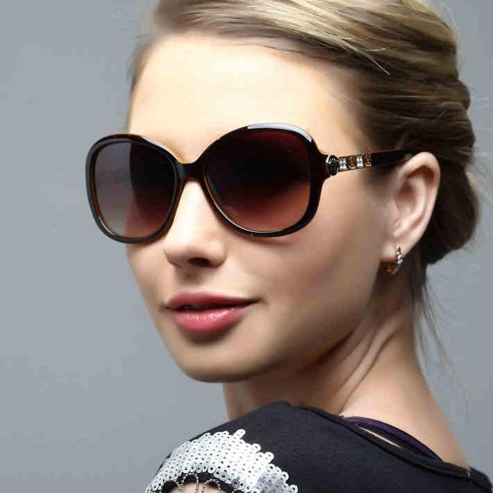 designer sunglasses women  Elegant Crystal Sunglasses For Women Big High Quality Sun Glasses ...