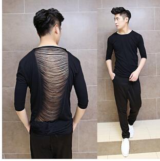 mens long shirts streetwear swag man shirt hip hop long back 5d3d3f01591