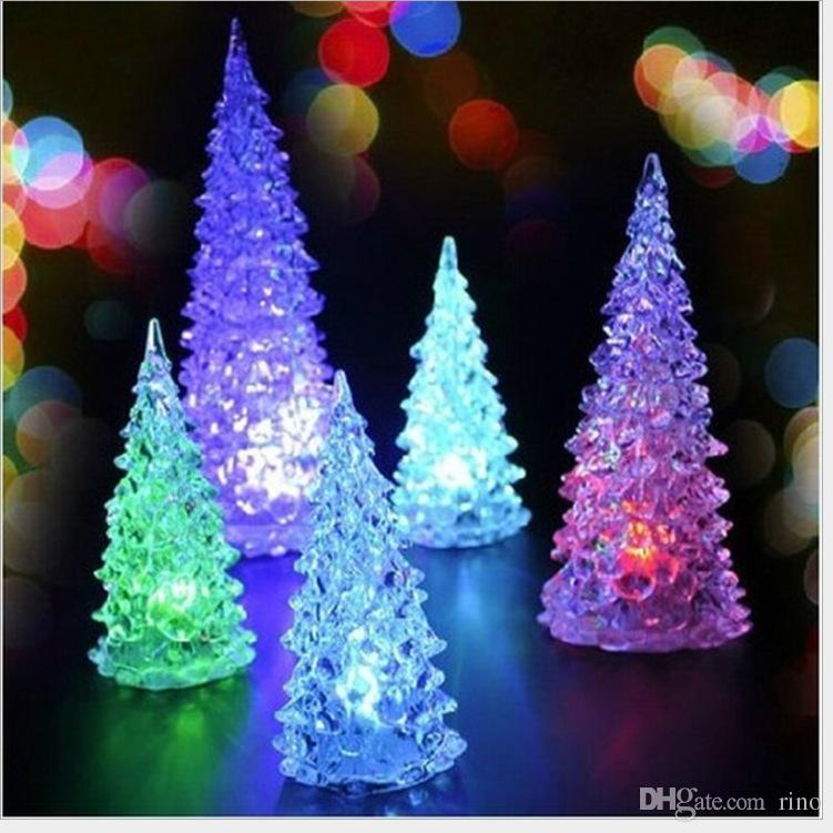 Christmas Decorations Gifts Cute Mini Led Tree With